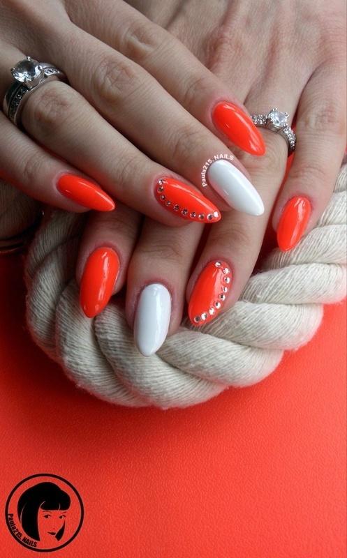 NeonRed. nail art by Paula215. NAILS