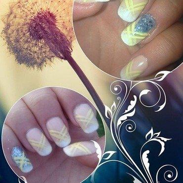Lemon frosting nail art by Bagira
