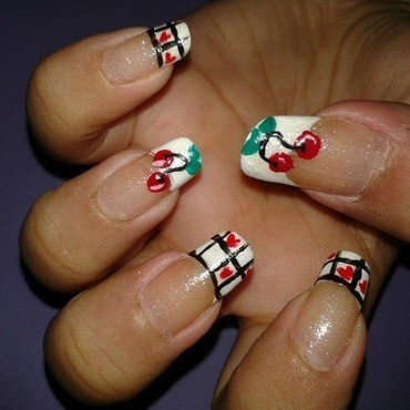 Cherry Nails nail art by HerCreativePalace (kanika)