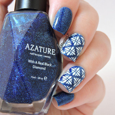 Blue Diamond nail art by Marine Loves Polish