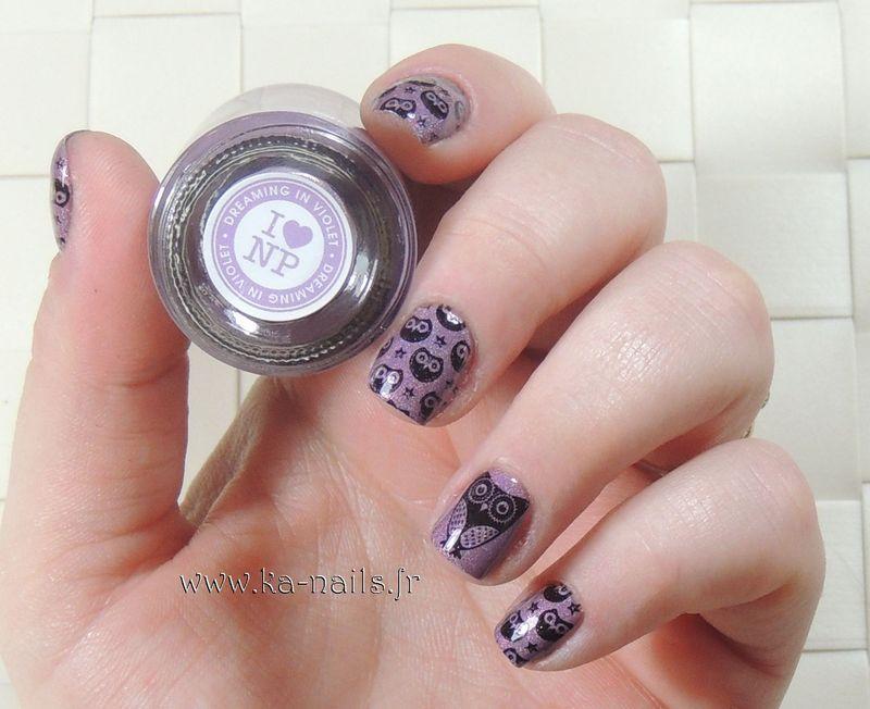 Happy Owls nail art by Ka'Nails