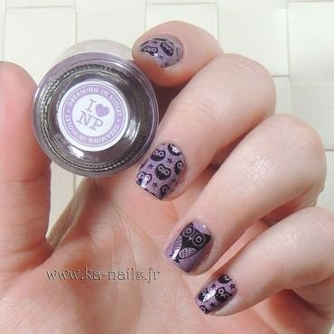 Happy Owls nail art by Ka'Nails