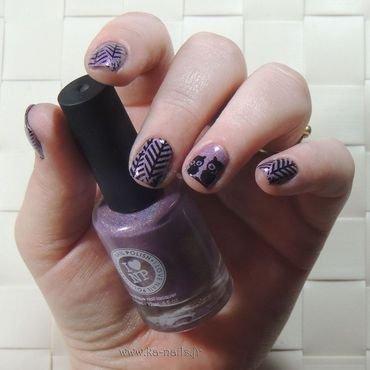 Owls Perched nail art by Ka'Nails