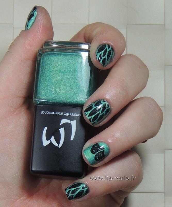 Carnival Mask nail art by Ka'Nails