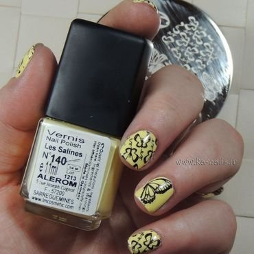 Beautiful Butterflies nail art by Ka'Nails