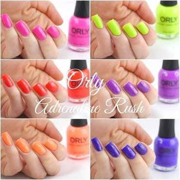 Orly On The Edge, Orly Be Daring, Orly Thrill Seeker, Orly Push The Limit, Orly Fireball, and Orly Risky Behavior Swatch by Ann-Kristin