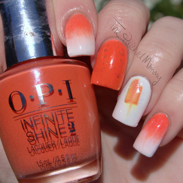 Orange Creamsicle Nails nail art by The Polished Mommy