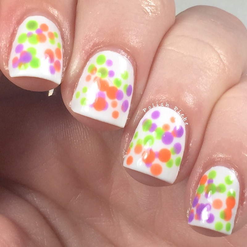 Clustered Dotticure nail art by Crystal Bond