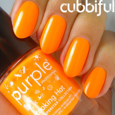 Purple Professional Beach Superstar Collection Looking Hot Swatch by Cubbiful