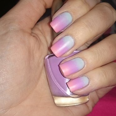 Pastel Ombre nail art by Nadia Joubert