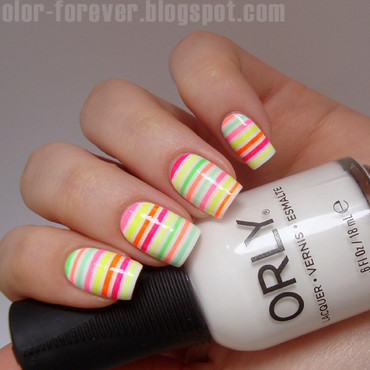 neon striping tape nail art nail art by ania