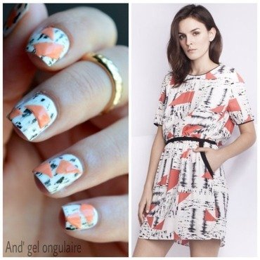 Tendance et graphique  nail art by And'gel ongulaire
