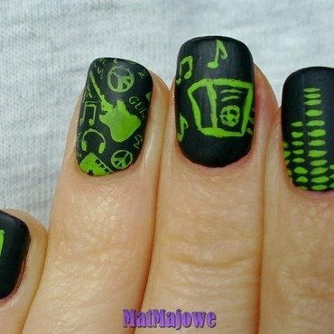 Music nails nail art by MatMaja