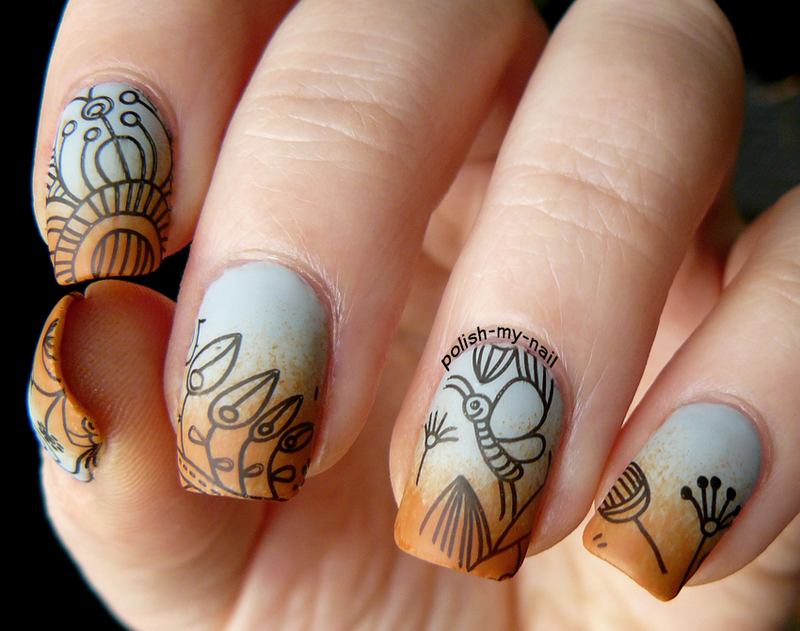 Spring bugs :) nail art by Ewlyn