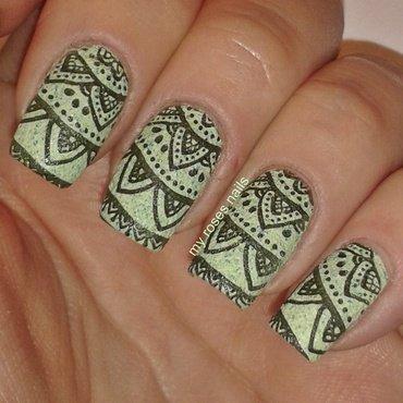 Mehndi manicure nail art by Ewa