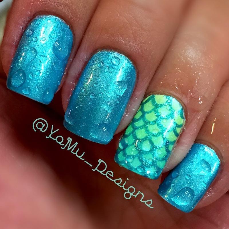 Under The Sea nail art by JMura_Designs