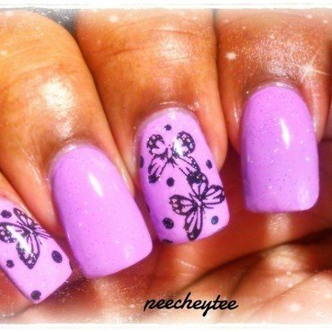 Butterflies nail art by peecheytee