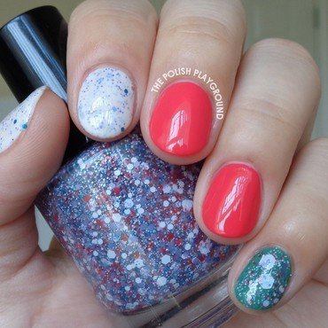 Scented Polish Skittle nail art by Lisa N