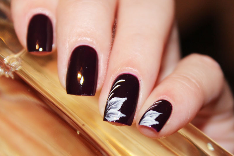 leaves nail art by bopp