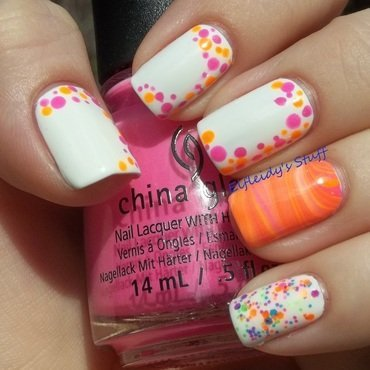 A party on my nails! nail art by Jenette Maitland-Tomblin