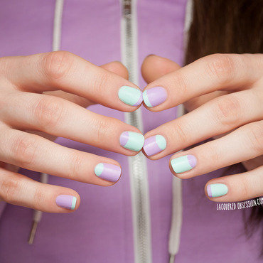 Sporty Chic nail art by Lacquered Obsession