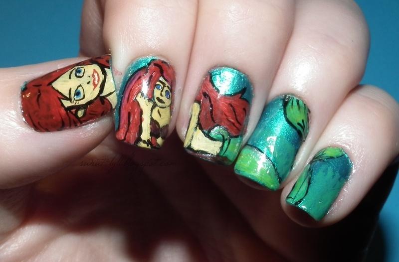 Ariel a Little Mermaid Nail