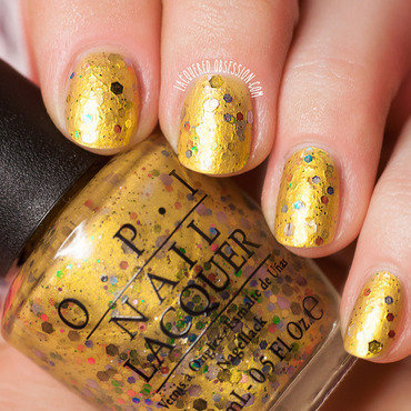 OPI Pineapples Have Peelings Too Swatch by Lacquered Obsession