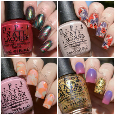 OPI Hawaii Collection nail art by The Polished Mommy