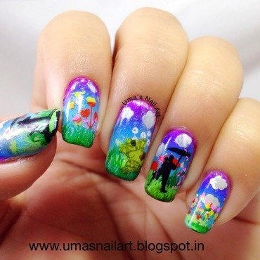 April Shower Nails nail art by Uma mathur