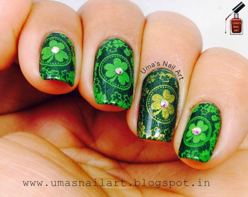 Saint Patrick's Day Nails... nail art by Uma mathur