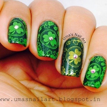 Saint Patrick's Day Nails... nail art by Uma mathur