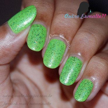 Miss Rôse 004 + Franken Nail Polish nail art by Tatiane
