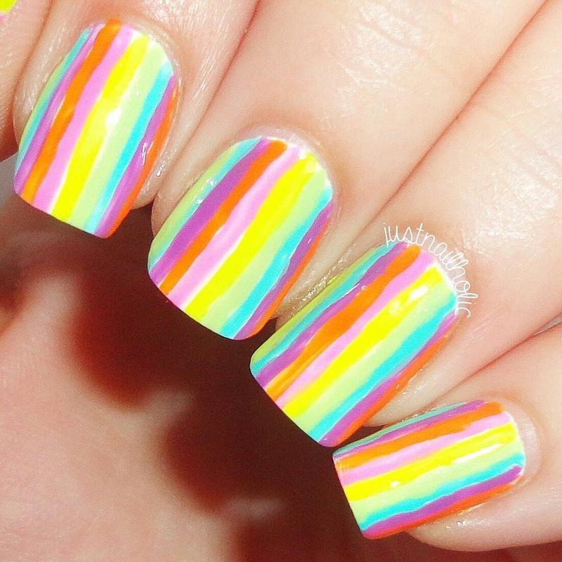 Rainbow nail art by Melany Antelo