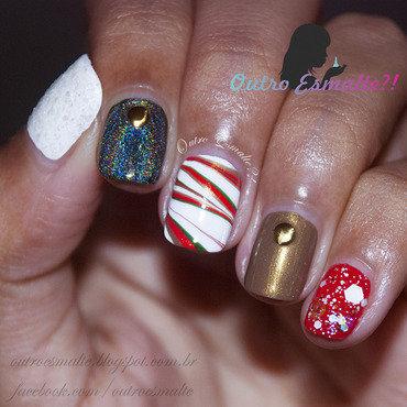 Christmas - 2014 nail art by Tatiane