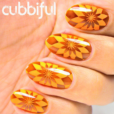 Flower Neon Nails nail art by Cubbiful