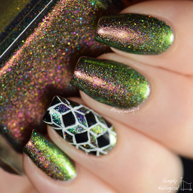 Enchanted Polish Dragon Swatch by simplynailogical