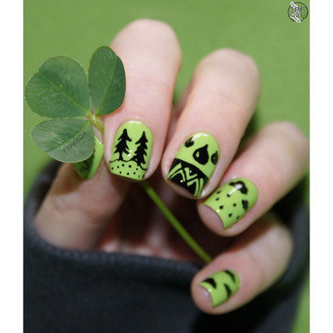 Earth day nailart nail art by Paulina