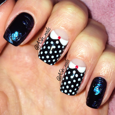 Polka-dot blouse design nail art by Anna Sh