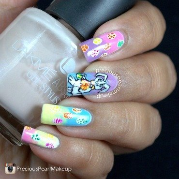 Easter Bunny Nails nail art by Pearl P.