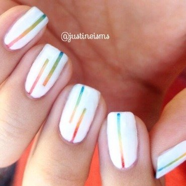 Reciprocal Rainbow Gradient nail art by ℐustine