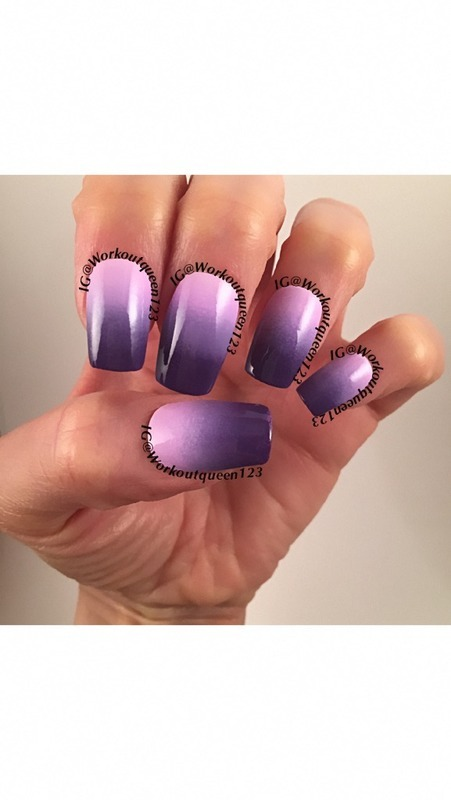 Purple Ombre nail art by Workoutqueen123