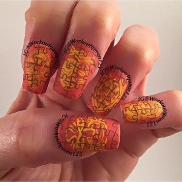 Puzzle Pieces  nail art by Workoutqueen123