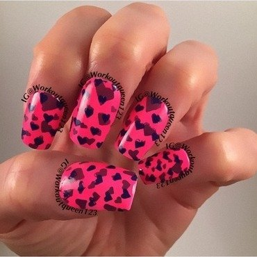 Heart pond mani nail art by Workoutqueen123