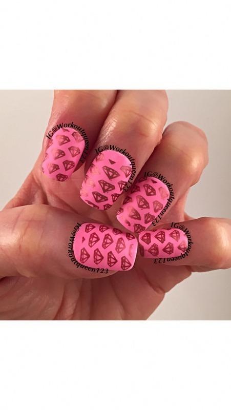 Diamonds Diamonds nail art by Workoutqueen123