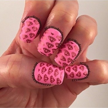 Diamonds Diamonds nail art by Workoutqueen123