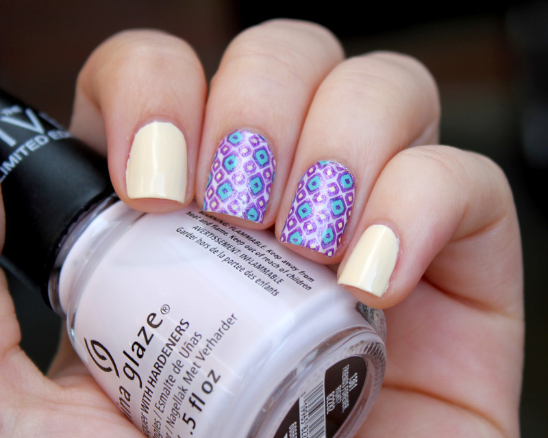 Purple Pattern nail art by Moriesnailart