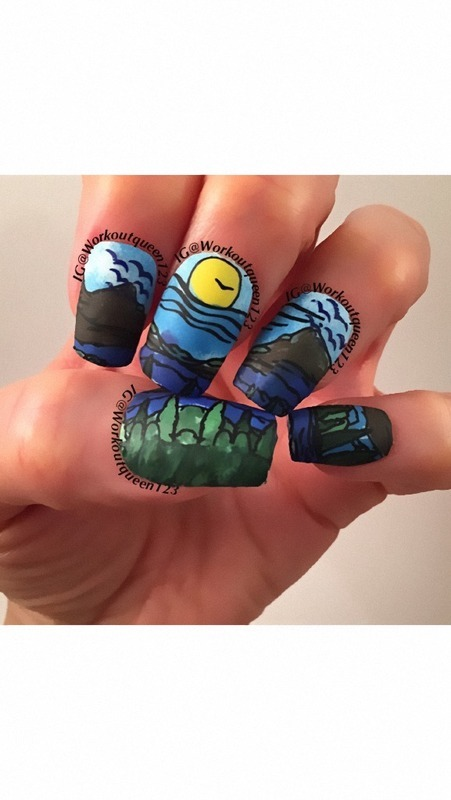 Happy Earth Day nail art by Workoutqueen123