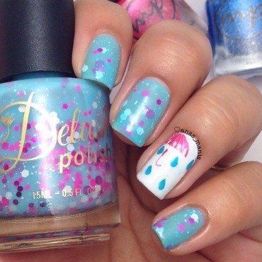 April Showers nail art by anas_manis