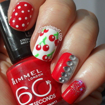 Cherry nail art by WithnailsandI