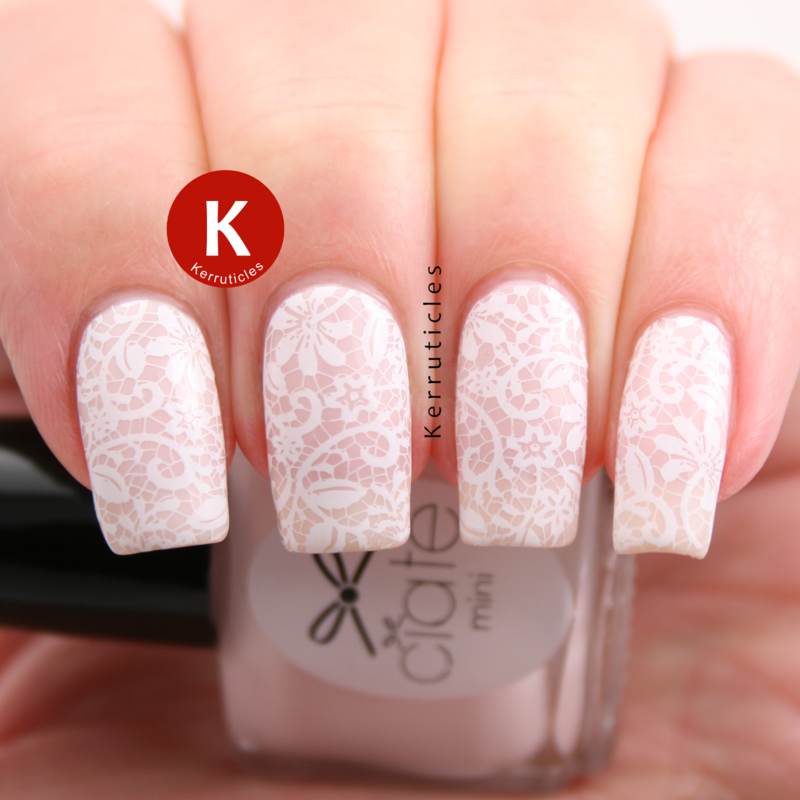 Lace nails nail art by Claire Kerr